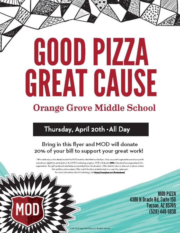 Mod Pizza Fundraiser