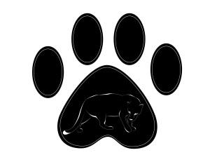OGMS logo panther paw print